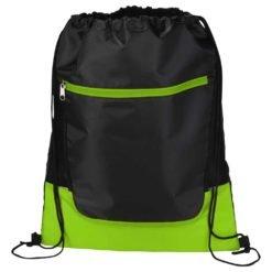 Libra Front Zipper Drawstring Bag-1