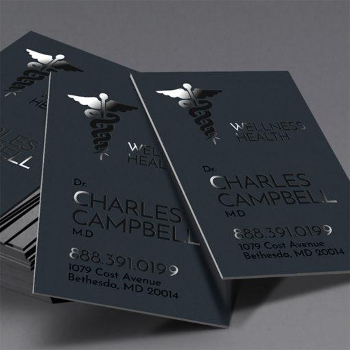 Spot UV Business Cards | Spot UV Business Cards Vertical Health Care | PrintMagic