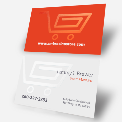 Spot UV Business Cards Printing, Matte Coating Business Cards