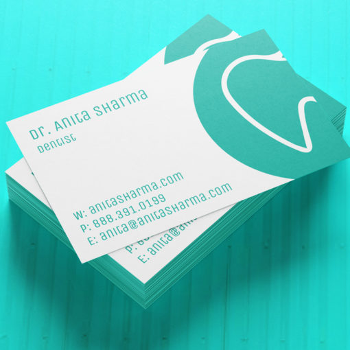 Ultra Thick Painted Edge Business Cards | Turquoise Ultra Thick Painted Edge Business Cards | PrintMagic