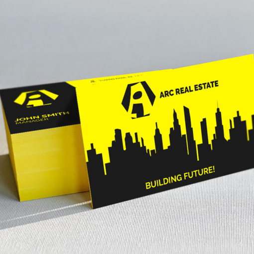 Ultra Thick Painted Edge Business Cards | Yellow Ultra Thick Painted Edge Business Cards | PrintMagic