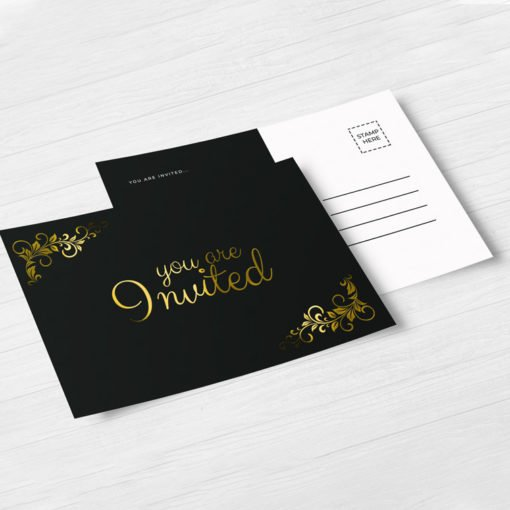 Raised Foil Postcards printing, Professional Raised Foil Postcards, Premium Gloss Postcards