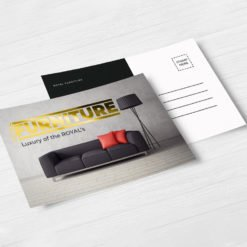 Raised Foil Postcards printing | Premium Raised Foil Postcards with Premium Gloss and Velvet Soft Touch lamination and Raised Foil On Front | PrintMagic