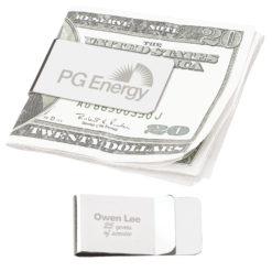 Print Chrome Money Clip