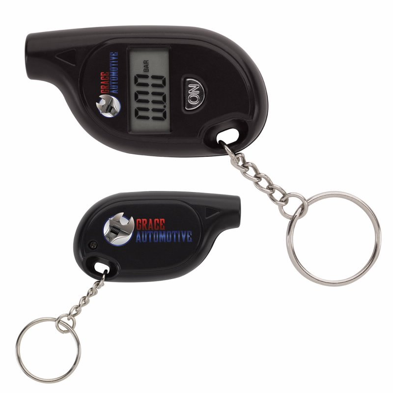 Print Digital Tire Gauge Keychain