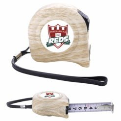 Print 16 ft Wood-Pattern Tape Measure with H-Hook