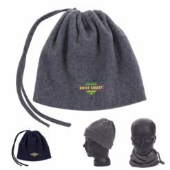 Print 2-in-1 Neck Warmer and Hat