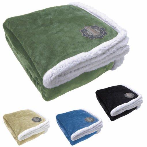 Print Oversize Sherpa Blanket
