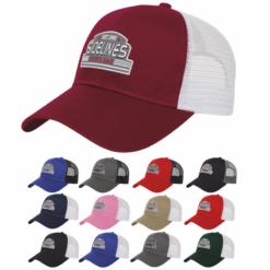 Print Cap America Two-Toned Mesh Back Cap