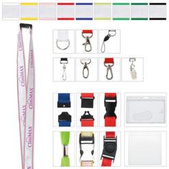 "Print 3/4"" Polyester Lanyard with Ribbon"