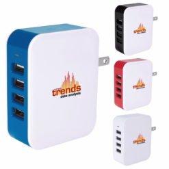 Print 4-Port USB Wall Adapter