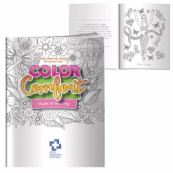 Print Adult Coloring Book - Hues of Healing (Breast Cancer Awareness)