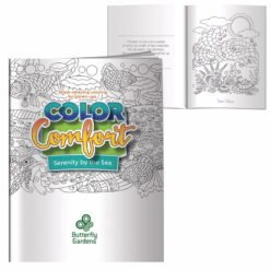 Print Adult Coloring Book -  Serenity by the Sea