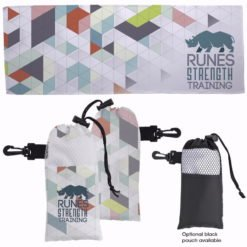 Print 4 Color Cooling Towel in Pouch