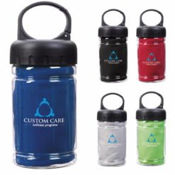 Print Carabiner Bottle with Cooling Towel