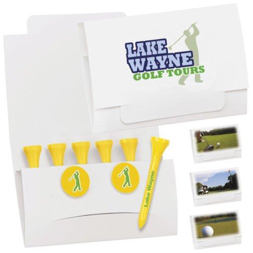 """Print 6-2 Golf Tee Packet - 2-3/4"""" Tee"""