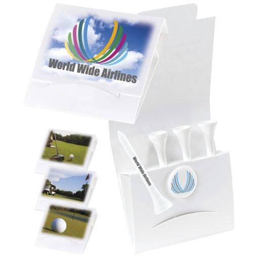 """Print 4-1 Golf Tee Packet - 3-1/4"""" Tee"""