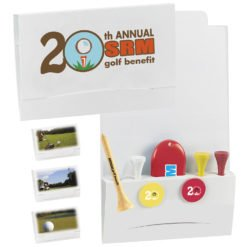 "Print 4-2-1 Golf Tee Packet - 3-1/4"" Tee"