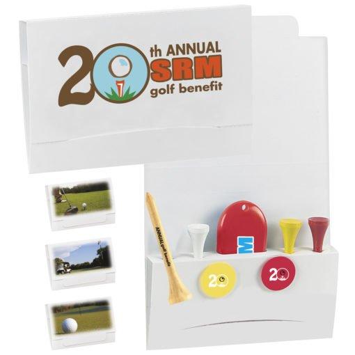 """Print 4-2-1 Golf Tee Packet - 3-1/4"""" Tee"""