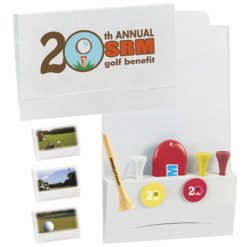 "Print 4-2-1 Golf Tee Packet - 2-1/8"" Tee"
