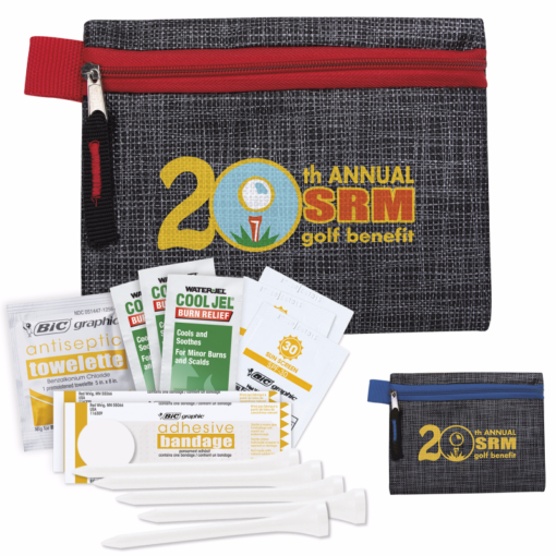 Print Golf First Aid Kit with Printed Non-Woven Pouch