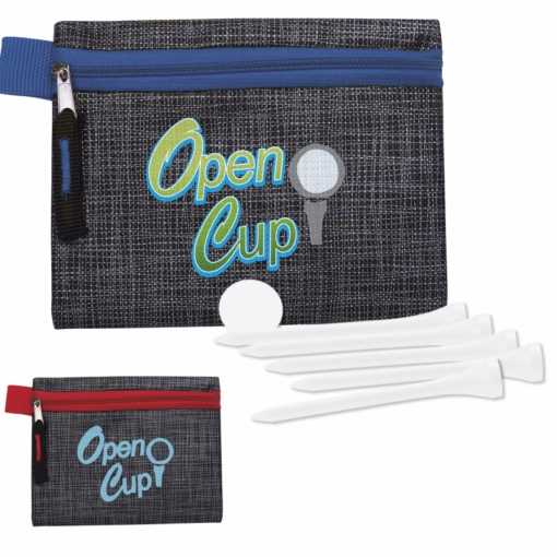 """Print Golf Tee Kit - 2-3/4"""" with Printed Non-Woven Pouch"""