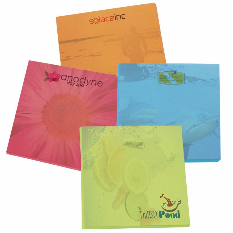 "Print BIC&#174 3"" x 3"" Bright Colored Paper Adhesive Notepad, 25 Sheet Pad"