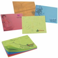 "Print BIC&#174 4"" x 3"" Bright Colored Paper Adhesive Notepad, 100 Sheet Pad"