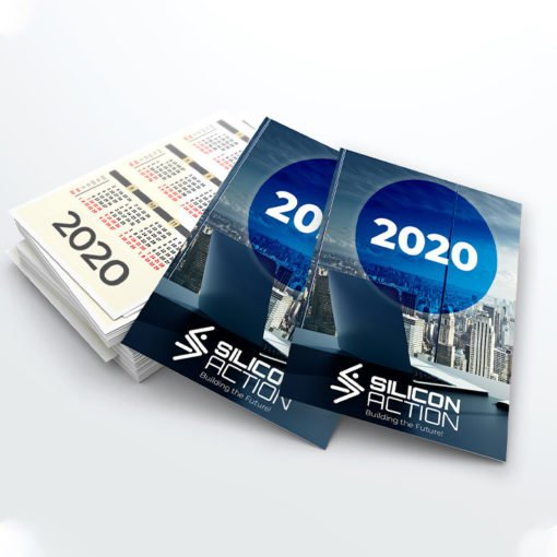 Card Calendars Printing | Premium Silicon Action Card Calendars With UV Coating Front And Premium Gloss Paper | PrintMagic