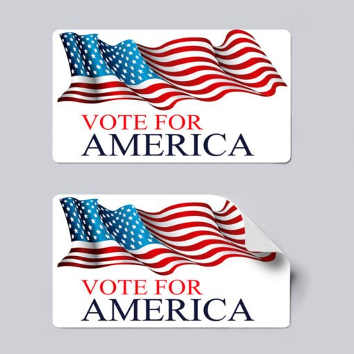 political stickers | Campaign & Political Stickers Printing | Premium Political Stickers With 70lb Gloss Sticker Paper And UV Coating Front | Print Magic