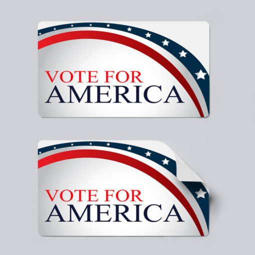 Campaign Stickers Printing, Premium Political Stickers, UV Coating Stickers