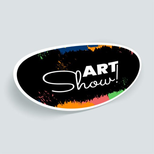 custom oval stickers, order Oval Stickers Printing