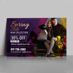 Foil Flyers Printing | High-Quality Flyers With Gold Foil On Front No Coating And Standard Uncoated Paper | PrintMagic