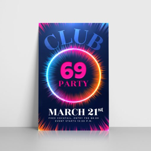 Premium Club Flyers online, Popular Club Flyers, UV Coating Flyer,