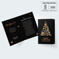 Raised Foil Greeting Cards Folded printing | Specialized Greetings With Premium Gloss Half Folded Raised Foil Front | PrintMagic