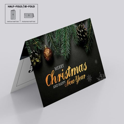 Custom Raised Foil Greeting Cards Folded