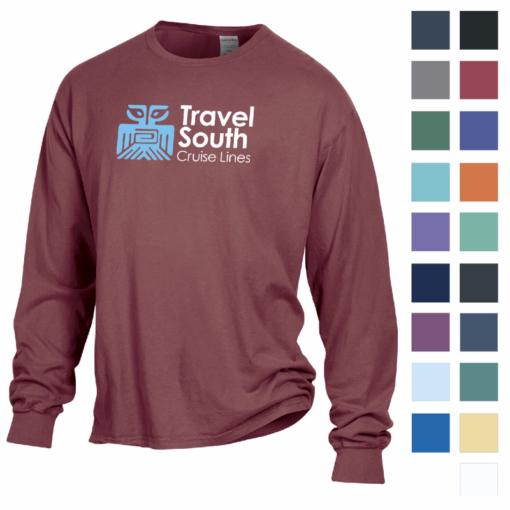 Print ComfortWash? by Hanes Garment Dyed Long Sleeve Tee