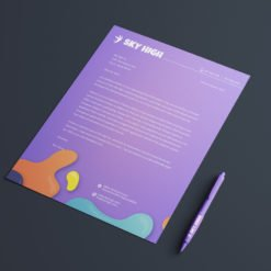 Letterhead printing | Specialized Letterhead with white linen uncoated-70lb | Front and backside printing | PrintMagic