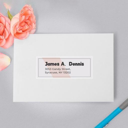 personalized name labels, silver metallic labels