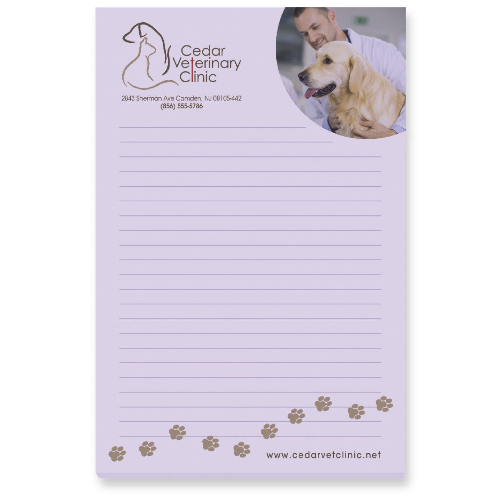 """Print BIC&#174 4"""" x 6"""" Adhesive Notepad, 25 Sheet Pad"""
