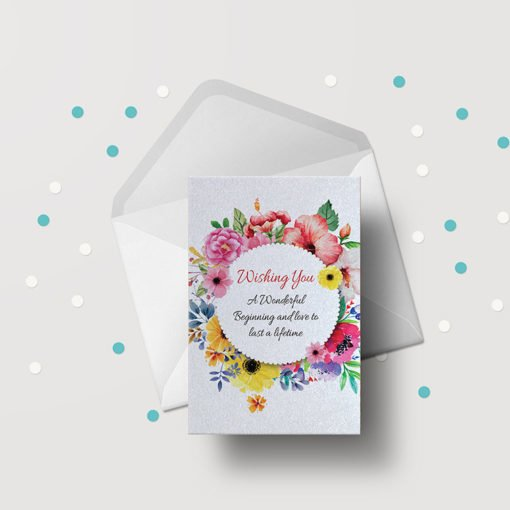 Pearl Greeting Cards Flat printing | Premium Greeting Cards With Standard pearl metallic Paper | No coating | PrintMagic