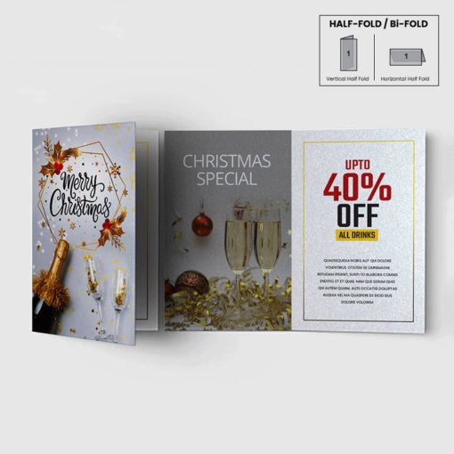 Custom Pearl Greeting Cards Folded, High-quality Greeting Cards