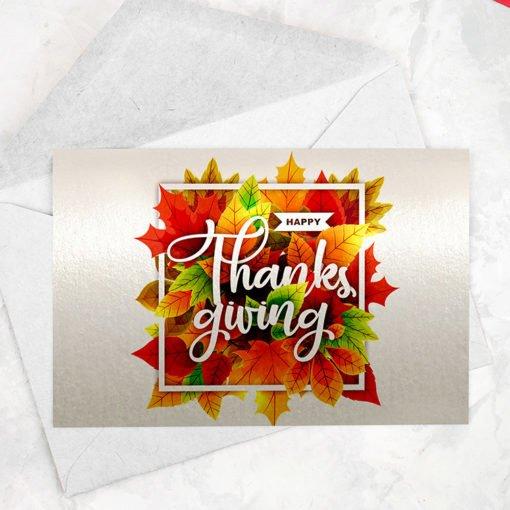 Pearl Metallic Greeting Cards Flat | Premium Greeting Cards With Standard pearl metallic Paper with No coating | Print Magic