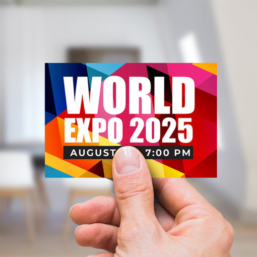 Promotional & Event Stickers | Horizontal Rectangle shape Printed Front side with 70lb Gloss Sticker Paper Stock and UV Coating on Front side Stickers for promote events for various sized companies, schools, industries, nonprofit organizations | PrintMagic