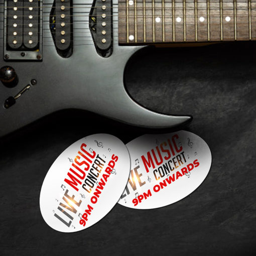 Promotional & Event Stickers | Oval shape Printed Front side with 70lb Gloss Sticker Paper Stock and UV Coating on Front side Stickers for promote events for various sized companies, schools, industries, nonprofit organizations | PrintMagic