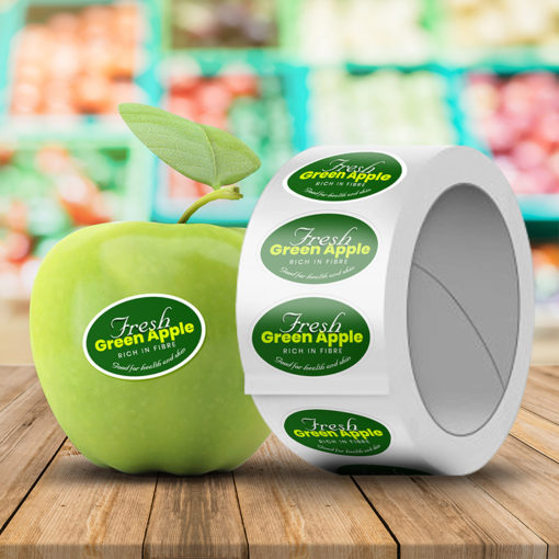 Roll Stickers | Oval shape Printed Front side with Semi-Gloss (55lb, 3.2mil) and Silk Lamination and Raise brand awareness for small and large company packaging with roll stickers | PrintMagic