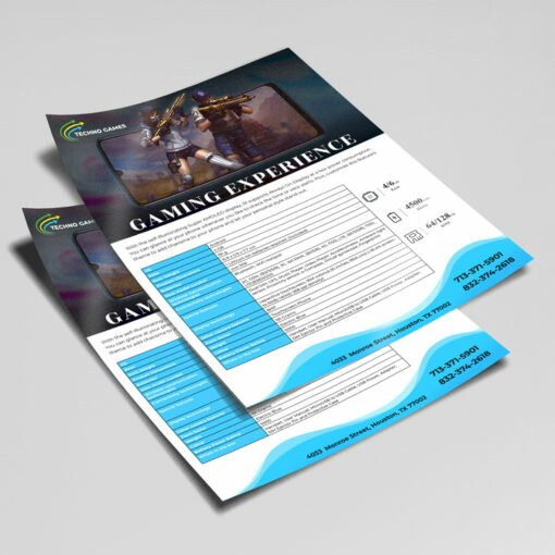 Pearl Metallic Sales Sheet printing