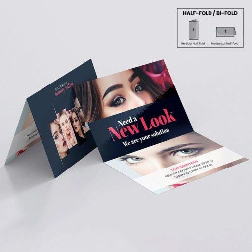 Silk Greeting Cards Folded printing | High-quality Greeting Cards With Premium gloss Paper | Spot UV coating | Silk lamination | Half folded | PrintMagic