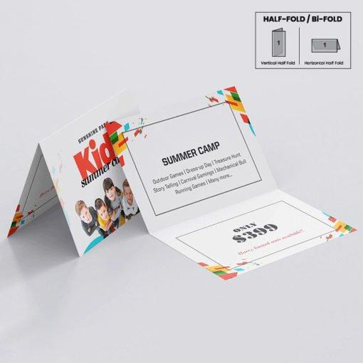 Silk Greeting Cards Folded printing