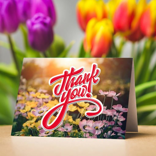 Silk Greeting Cards Folded | High-quality Greeting Cards With Premium gloss Paper and Spot UV coating have Silk lamination with Half folded | Print Magic